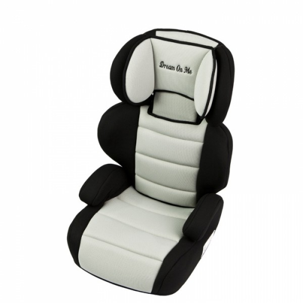 Deluxe Booster Car Seat - Black & Ivory