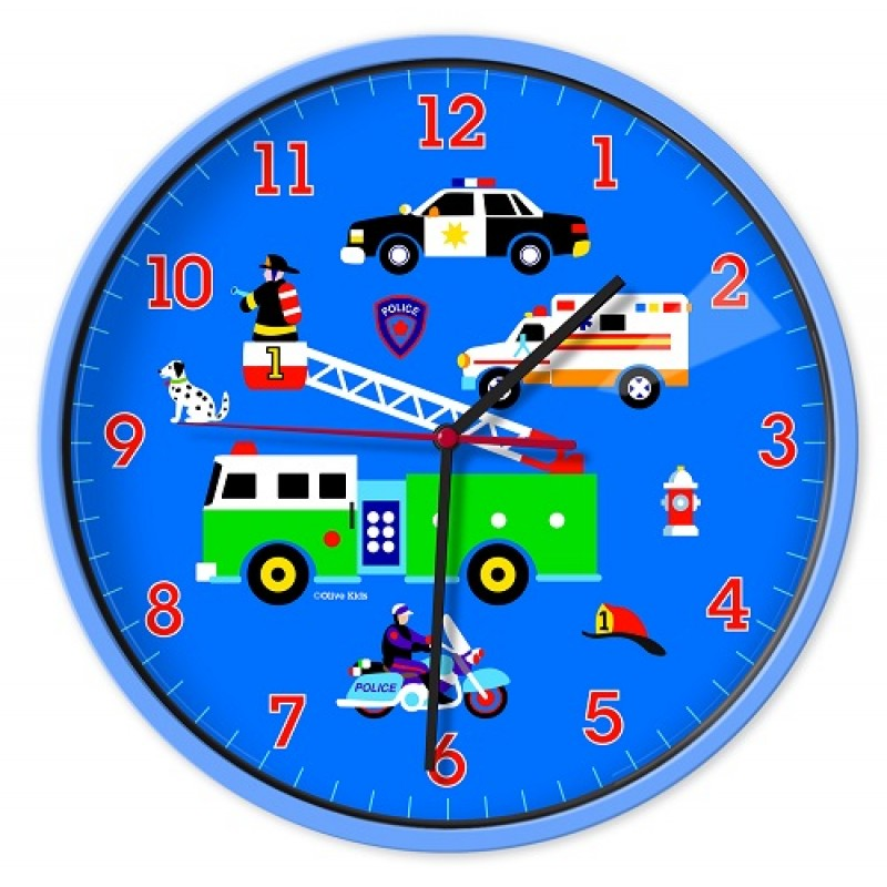 Heroes Olive Kids Wall Clocks Little Bear Boutique